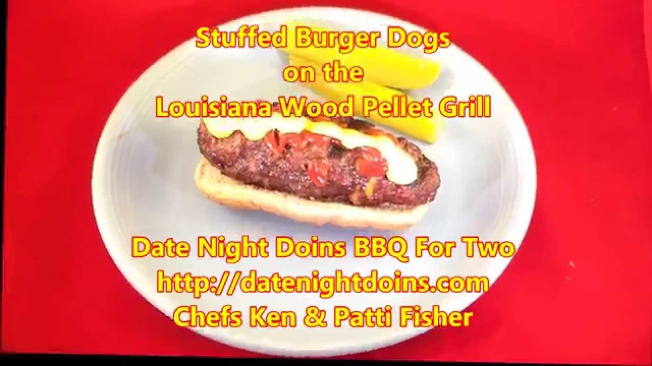 Stuffed Burger Dogs on the Louisiana Wood Pellet Grill ...