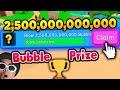 CLAIMING THE FINAL BUBBLE PRIZE in Roblox Bubblegum Simulator