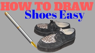 How To Draw Shoes Easy| How To Draw Shoes Easy Easy Way For Kids or Child