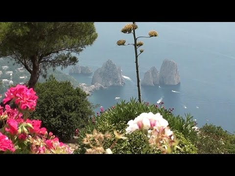 Capri Chairlift to Monte Solaro (HD) stunning views of Capri, Naples, Amalfi, Italy.