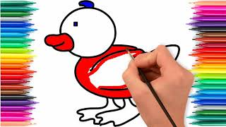 Duck baby || Kids of birds Drawing for kids enjoy Color Step by step Learn || Little Channel || Bird