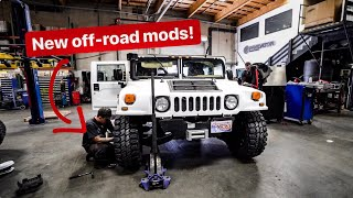 NEW OFF-ROAD MODS FOR MY HUMMER H1 & FIRST DRIVE!! *BEAST MODE*