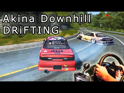 Akina Downhill DRiFTING, Full Run - Tuned Nissan Silvia S13, Assetto Corsa, mrtitanmod. HD 2015