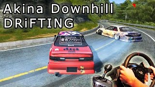 Akina Downhill DRiFTING, Full Run - Tuned Nissan Silvia S13, Assetto Corsa, mrtitanmod. HD 2015