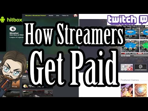 How Twitch & Hitbox (Now Smashcast) Live Streamers Get Paid!