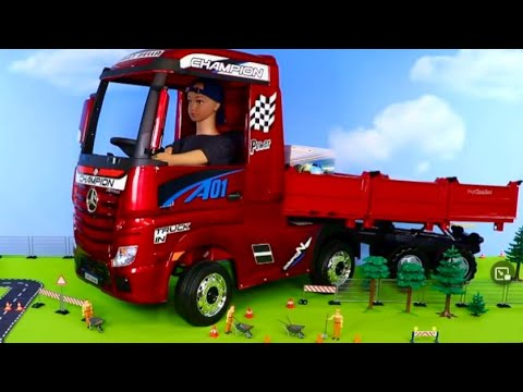 Police Cars, Crane, Garbage Trucks & Excavator Toy Vehicles Play for Kids