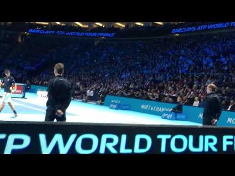ATP World Tour Finals 2016 F - Andy Murray Vs Novak Djokovic (court level)