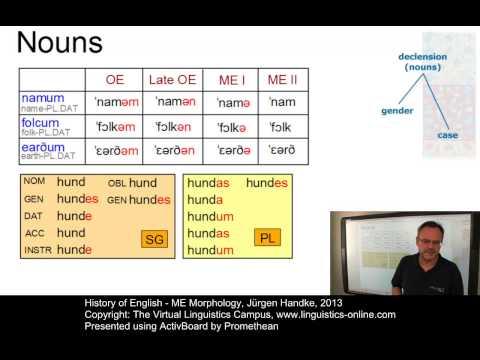 History Of English - ME Morphology