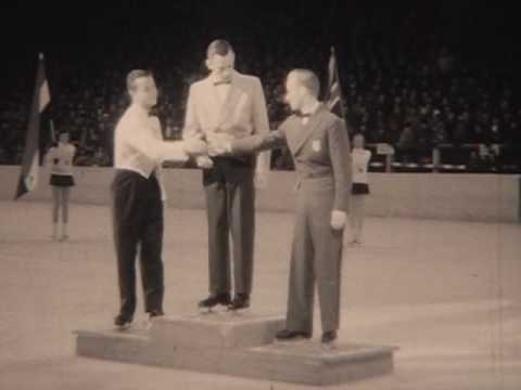 1956 World Figure Skating Championships Mens Medal Ceremony