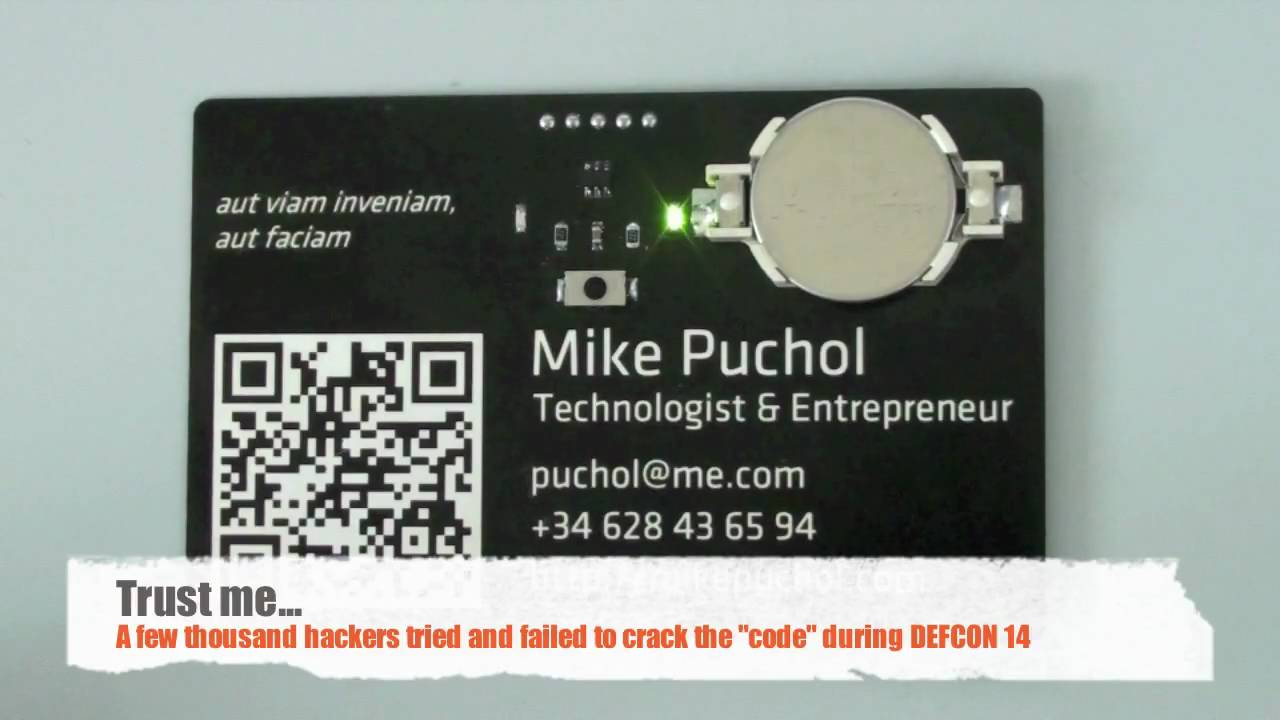 My PCB business card - YouTube