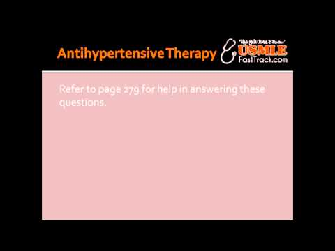 Antihypertensive Therapy for Essential Hypertension, CHF & Diabetes Mellitus