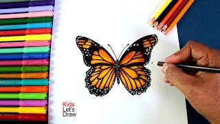 Cómo dibujar y pintar una Mariposa | How to draw and paint a Butterfly - 1/20