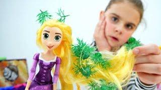 Рапунцель в парикмахерской. Идеи для кукол - Мультики для девочек