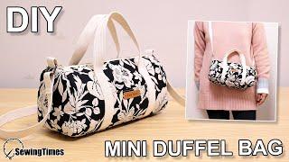 DIY CUTE DUFFEL BAG | Purse Bag Crossbody Bag Tutorial & Pattern [sewingtimes]
