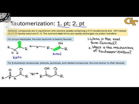11.03-introduction-to-tautomerization;-stability-of-keto-and-enol-tautomers