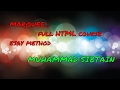 Html Marquee attributes directions, behavior bg-color, Scroll amount... in urdu