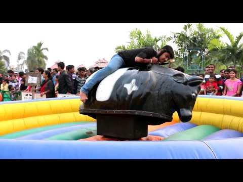 Mechanical Bull Ride Game At Eco Park, Kolkata