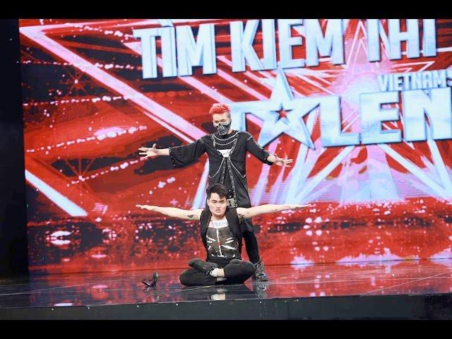 """Vietnam's Got Talent 2016 – TẬP 04 – Nhảy bẻ khớp """"vi diệu"""" – Nhóm Người Bí Ẩn"""