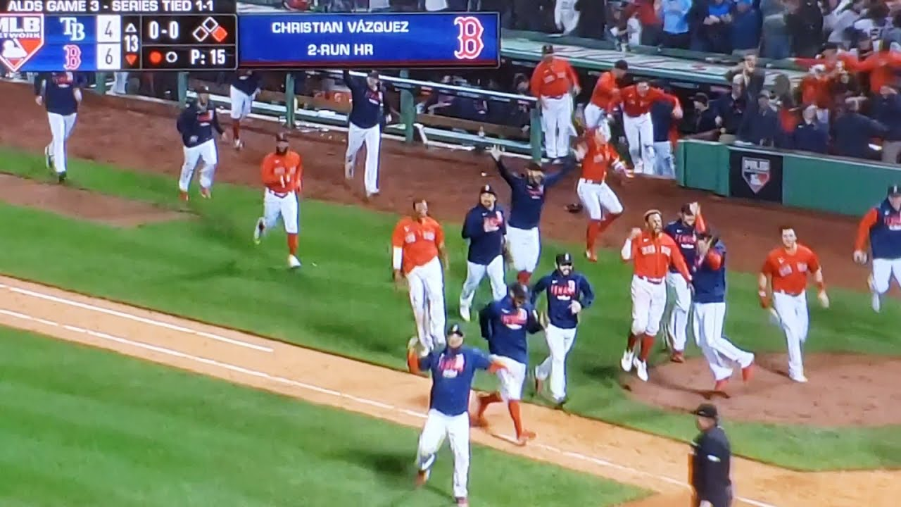 Red Sox vs. Rays score: Christian Vasquez's walk-off homer in 13th ...