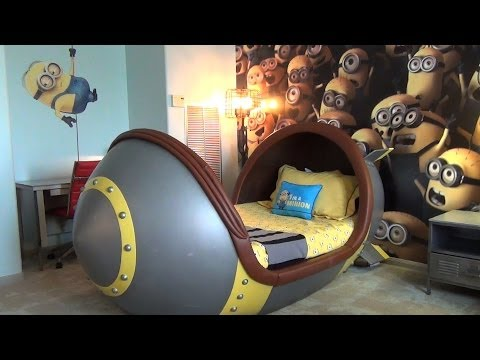 Minion Suite Detailed Tour At Loews Portofino Bay Hotel, Universal Orlando W/ Missile Beds