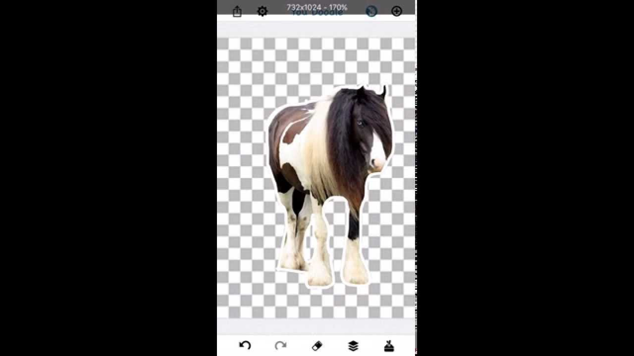 How To Cut Out Photos On Iphone Ipad And Android Using You Doodle Youtube
