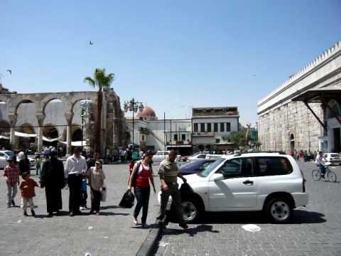 Square outside Umayyad Mosque, Damascus, Syria