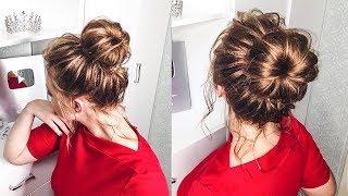 як зробити пучок з тонкого волосся відео уроки для початківців