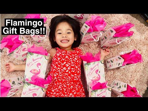 WERNNSAI FLAMINGO GOODY BAGS   DIY GOODY BAG   GOODY BAG FOR FLAMINGO BIRTHDAY   GIFT BAG