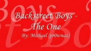 Backstreet Boys The One Lyrics