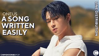 """Cover images ONEUS - """"A SONG WRITTEN EASILY"""" • Line Distribution"""