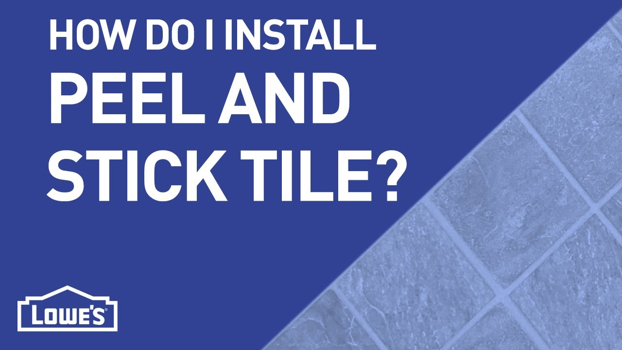 How Do I Install Peel-n-Stick Tile? | DIY Basics - YouTube