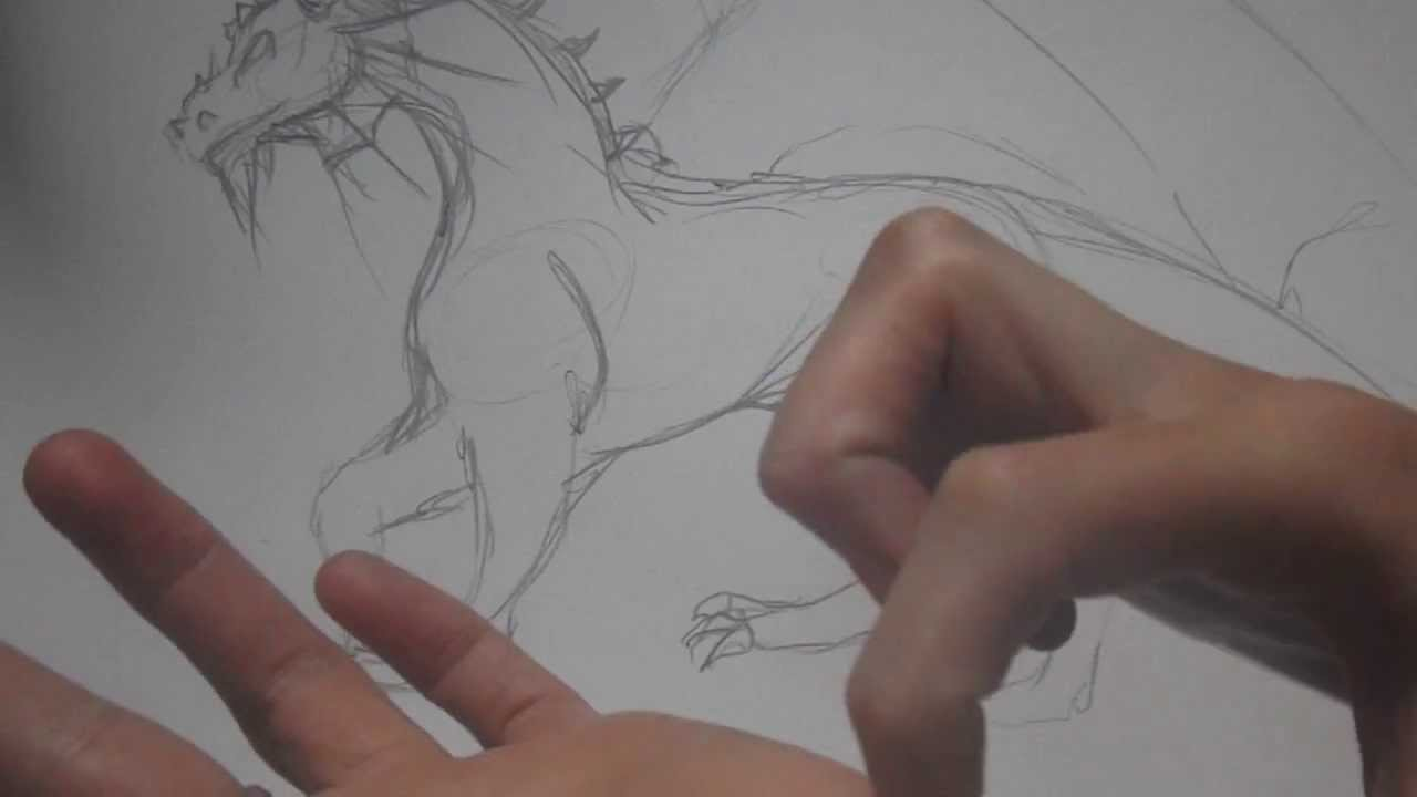 Asmr Art How To Draw A Dragon Part 2