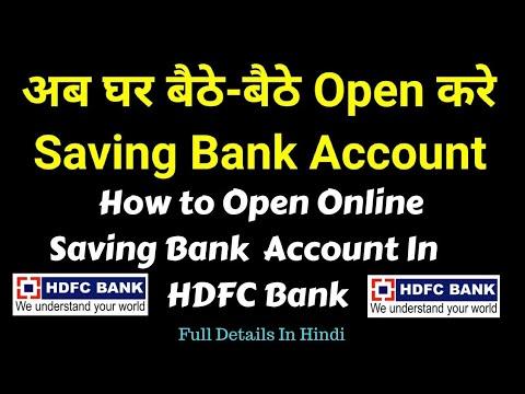 open hdfc bank account online