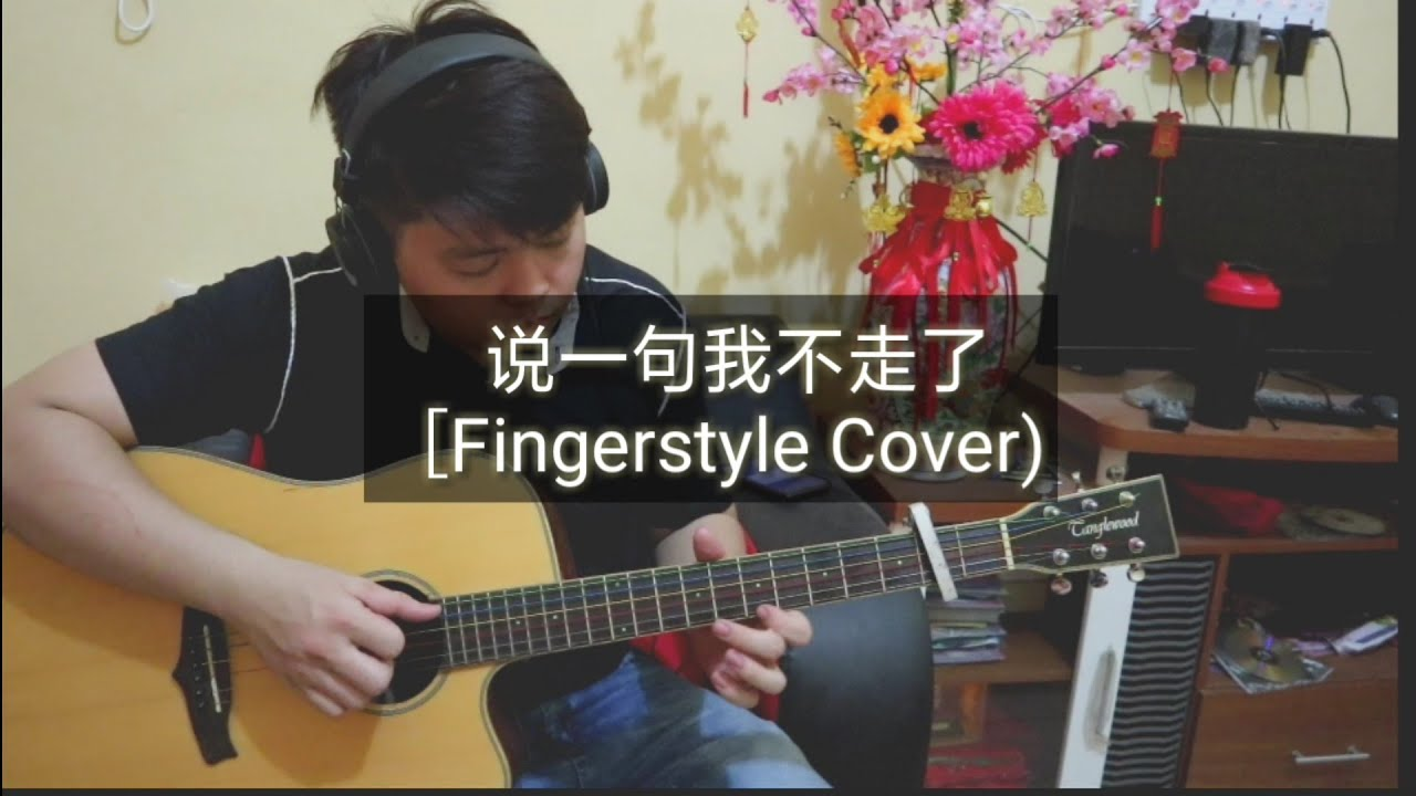說一句我不走了- 阿涵 / Edy Fingerstyle / Guitars Cover/ Shuo Yi Ju Wo Bu Zou Le - YouTube
