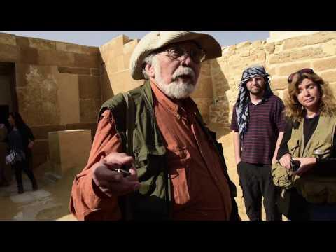 John Anthony West in Saqqara - 2015