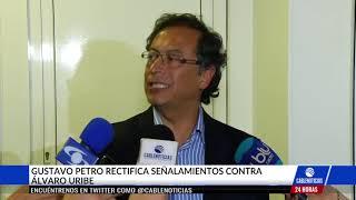 Petro rectificó acusaciones contra el expresidente Uribe