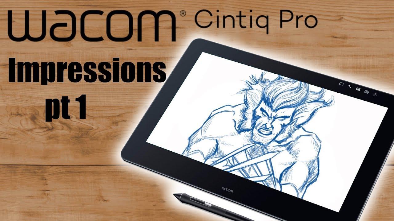 Wacom Cintiq Pro 16 Unboxing + First Impressions Pt 1
