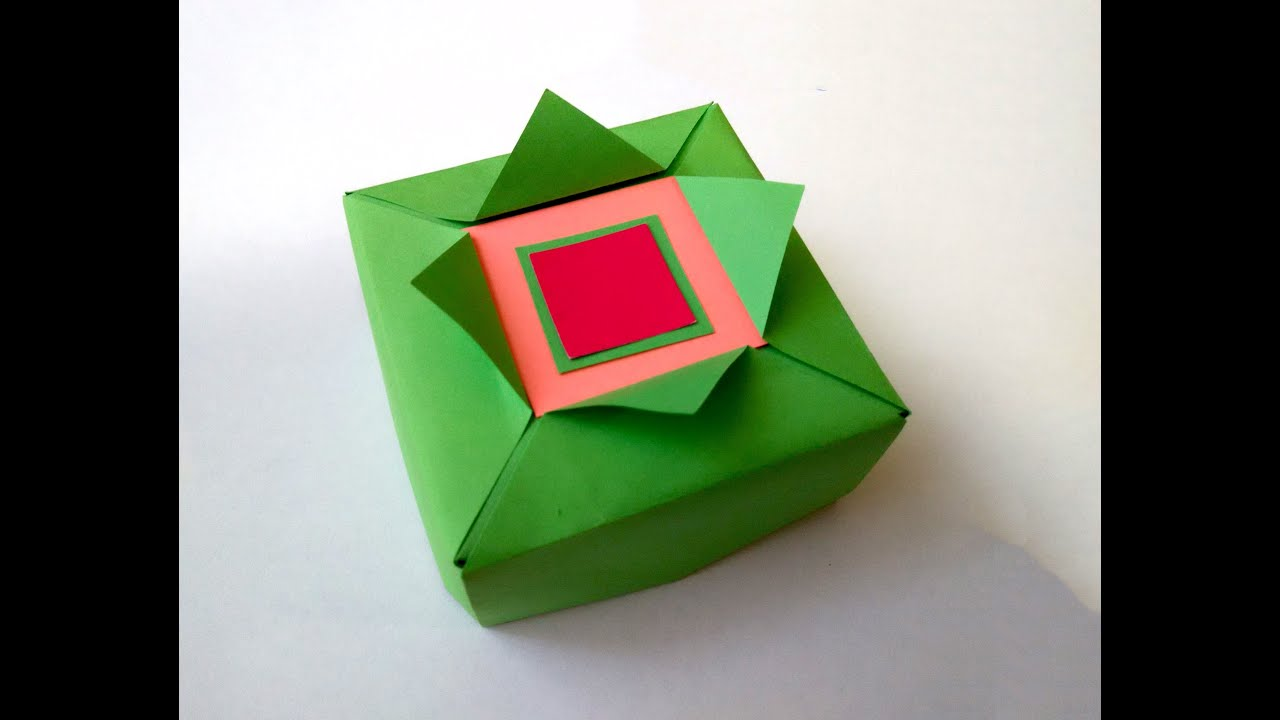 Easy Origami Gift Box Great Ideas For Gift Wrapping Gift