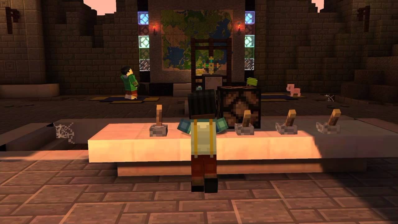 Minecraft Story Mode Puzzle Solution At Temple Youtube
