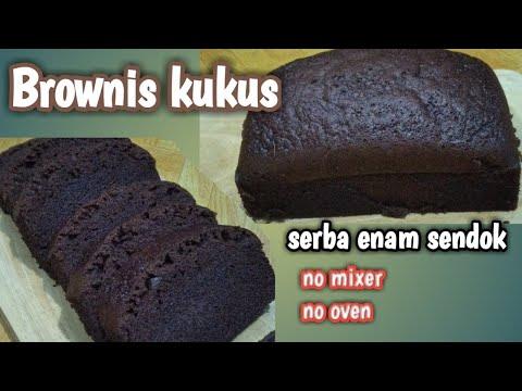 BROWNIS KUKUS SERBA 6 SENDOK    RESEP BROWNIES EKONOMIS TANPA MIXER TANPA OVEN
