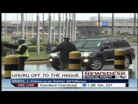 President Uhuru Kenyatta leaves the country for The Hague in the Netherlands