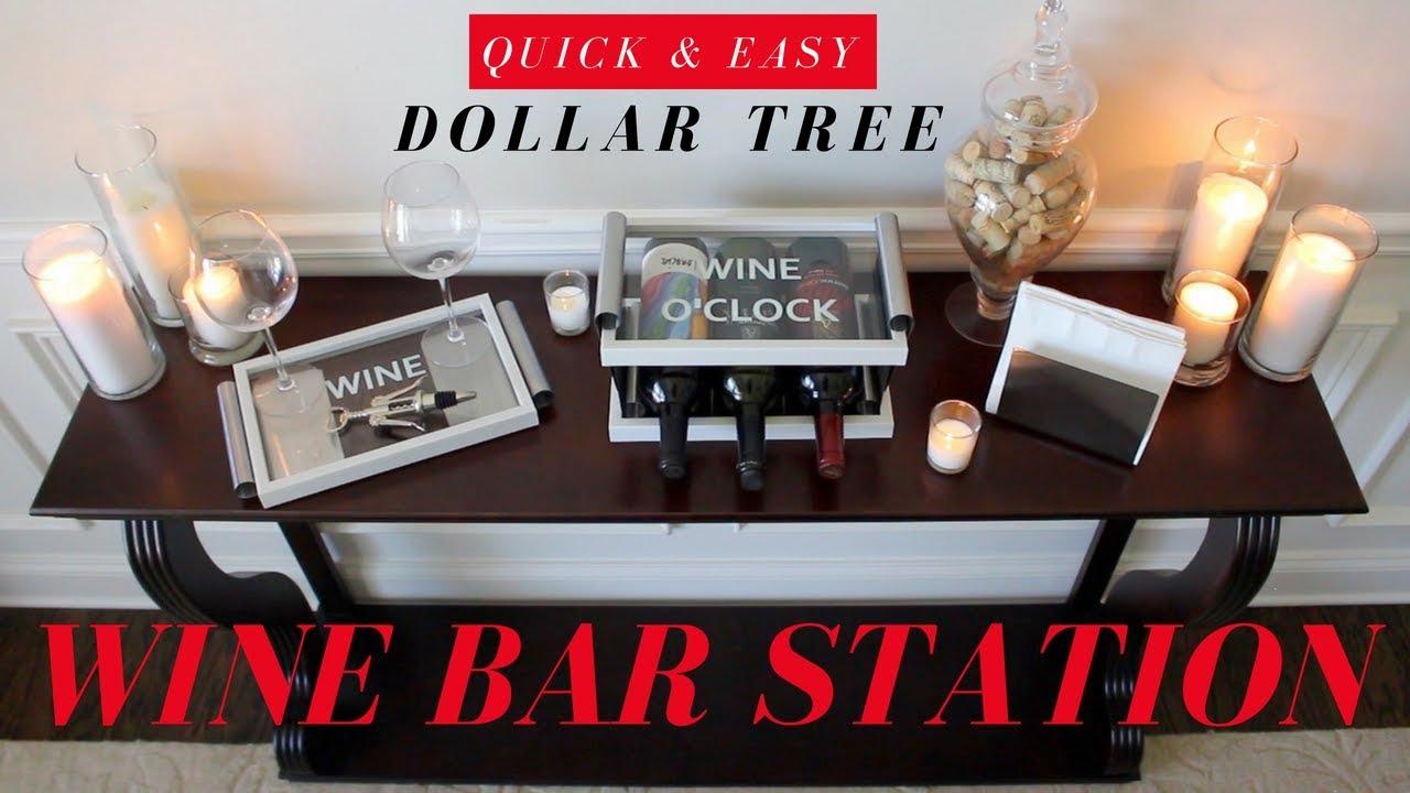DIY WINE RACK | DIY WINE BAR | DOLLAR TREE DIY ROOM DECOR - YouTube