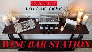 DIY WINE RACK |  DIY WINE BAR | DOLLAR TREE DIY ROOM DECOR