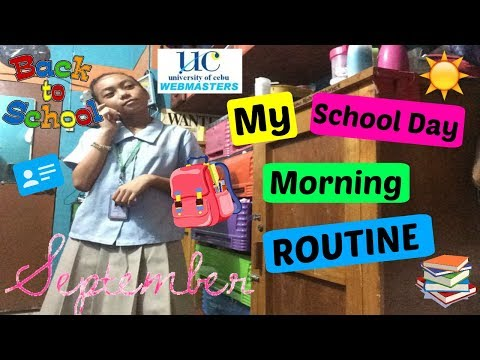 SCHOOL DAY MORNING ROUTINE |Philippines| |University of Cebu|