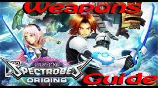 Spectrobes: Origins Weapons Guide and Showcase