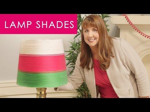 How to Yarn Wrap Lamp Shades - Easy Decor DIY