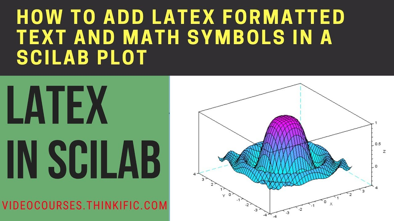 How To Add Latex Formatted Text And Math Symbols In A Scilab Plot