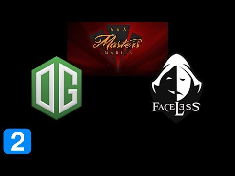OG vs Faceless Game 2  Masters Manila 2017 Highlights Dota 2