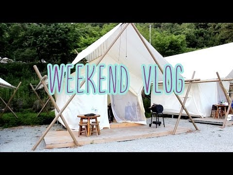 Weekend Vlog: Glamping Out w/ hubby 글램핑 후기 | makeu