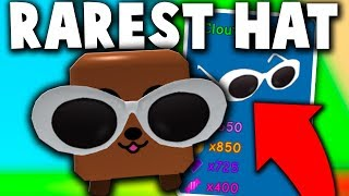 NOOB WITH THE CLOUT GOGGLES *GODLY RAREST HAT!* - Roblox Bubble Gum Simulator (Update)